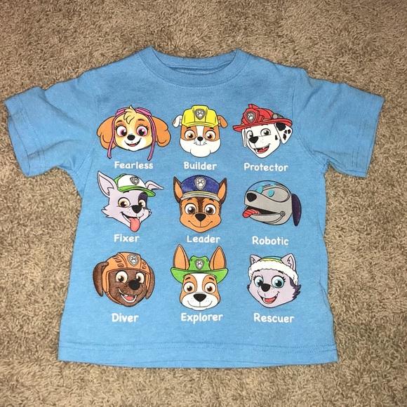 Paw Patrol Toddler Boy Graphic Short Sleeve T-Shirt Various Toddler Sizes NWT